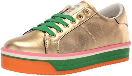 Marc Jacobs Women's Empire Multi Color Sole Sneaker, Gold/Green Multi, 38 M EU (8 US)