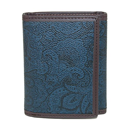 Robert Graham Men's Faux Leather Trifold Wallet with Two Tone Paisley Print