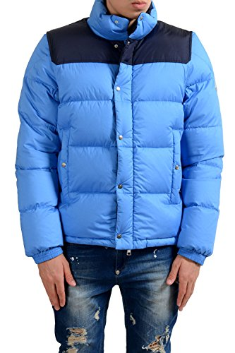 Moncler Men's Blue Full Zip Down Parka Jacket With Detouchable Sleeves Size 1 US S;