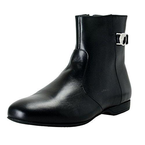 Versace Collection Men's Black Leather Ankle Boots Shoes Sz US 11 IT 44
