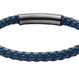Tateossian Tubo Charles Taito Silver Bracelet - Navy, Large 19.5cm