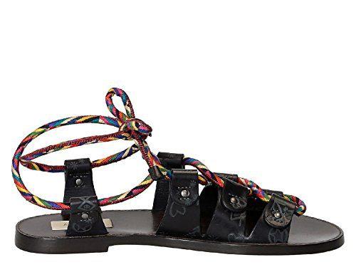 Valentino Garavani Women's Grey Leather Sandals