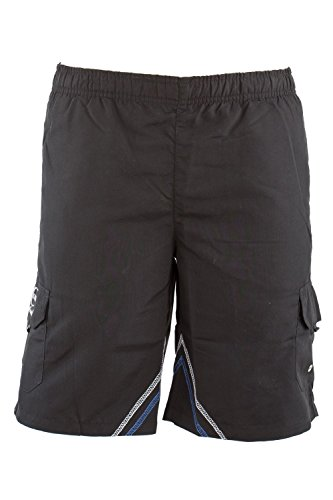 Just Cavalli Men Black Beach Swim Board Shorts Long Swimsuit Designer Trunks S US EU 48