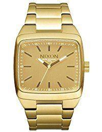Nixon Manual II Luminous All Gold Dial Gold Tone Men's Watch