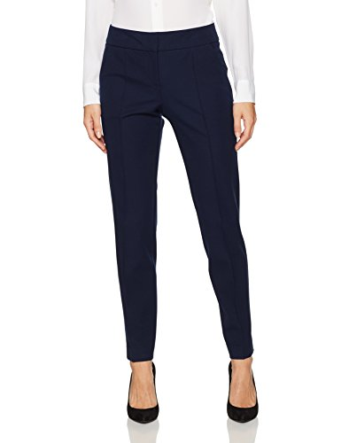 Trina Turk Women's Kait Cotton Bi Stretch Straight Leg Pant, Indigo, 4