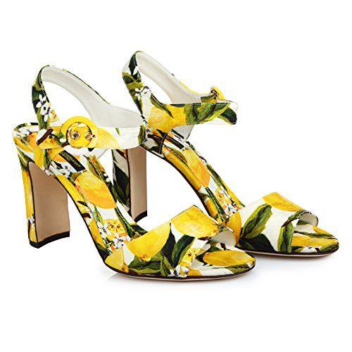 Dolce Gabbana Women's Fashion Sandals Yellow EU 40 40,5/10 10,5 US (EU 40/10 B(M) US)