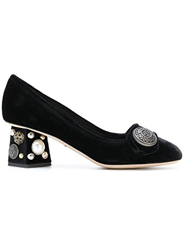 Dolce e Gabbana Women's Black Velvet Pumps