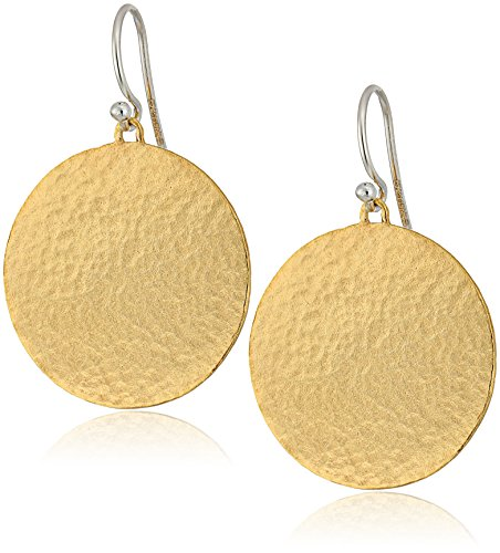 "GURHAN""Lush"" Vermeil Medium Flake Hook Drop Earrings"