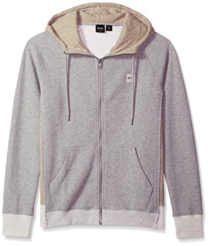 BOSS Orange Men's Zteen Hooded Zip-Jacket, Light/Pastel Grey, XL