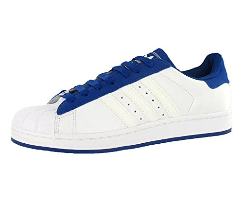 adidas Originals Men's Superstar II Shoe,White/White/Royal,12 M US