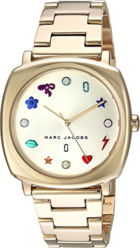 Marc Jacobs Women's 'Mandy' Quartz Stainless Steel Casual Watch, Color Gold-Toned (Model: MJ3549)