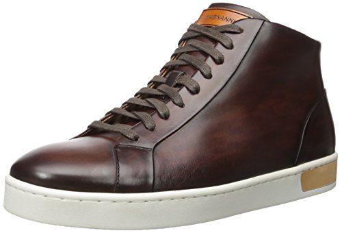 Magnanni Men's Caden Fashion Sneaker, Mid Brown, 8 M US