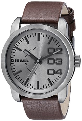Diesel Men's Double Down Analog Display Analog Quartz Brown Watch
