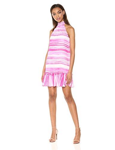 Trina Trina Turk Women's Zuri Mock Neck Sleeveless Dress, Camellia, M