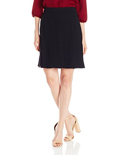 Trina Turk Women's Carwash Carmel Crepe Pleated Skirt, Black, 2