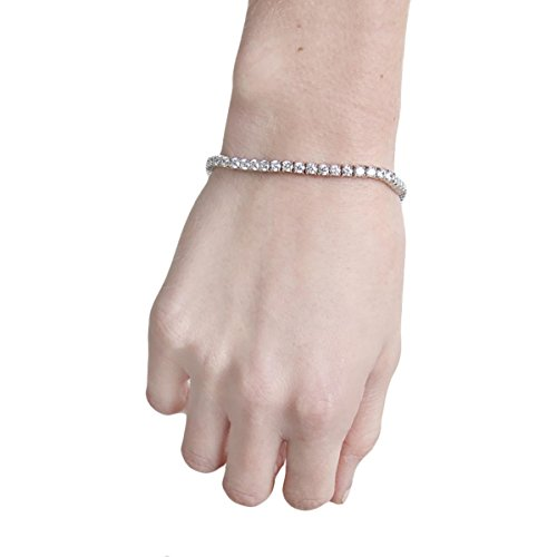 CZ by Kenneth Jay Lane Womens Cubic Zirconia Round Tennis Bracelet O/S
