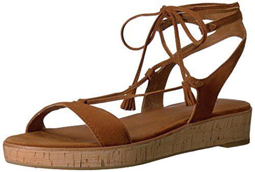 FRYE Women's Miranda Gladiator Platform Sandal, Nutmeg, 8.5 M US