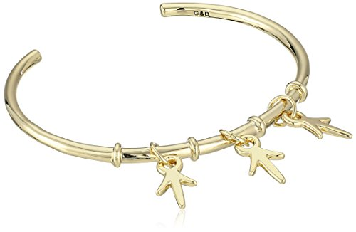 """Giles & Brother Betsey Johnson""""Heaven Sent"""" Crystal Wing Wide Hinged Bangle Bracelet"""