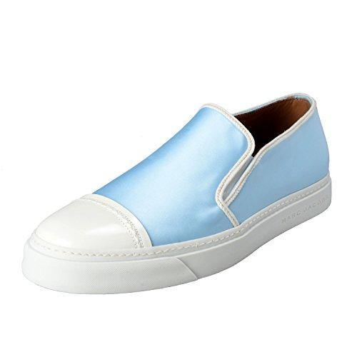 Marc Jacobs Men's Blue Leather & Canvas Loafers Slip On Shoes US 10 IT 9 EU 43