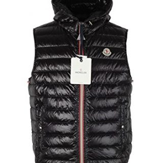Moncler CL Black Gien Hooded Shell Gilet Vest Size 3/M/50/40 U.S.