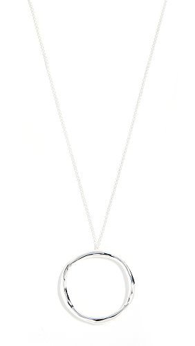 Gorjana Women's Quinn Long Adjustable Necklace, Silver, One Size