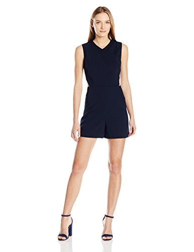 Ted Baker Women's Konnee Wrap Front Cut Out Playsuit, Dark Blue, 1
