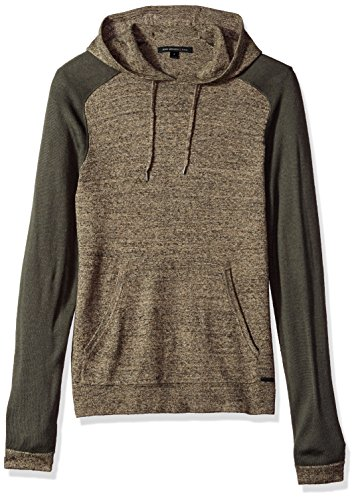 John Varvatos Men's Saddle Shoulder Hoody, Oat, Large