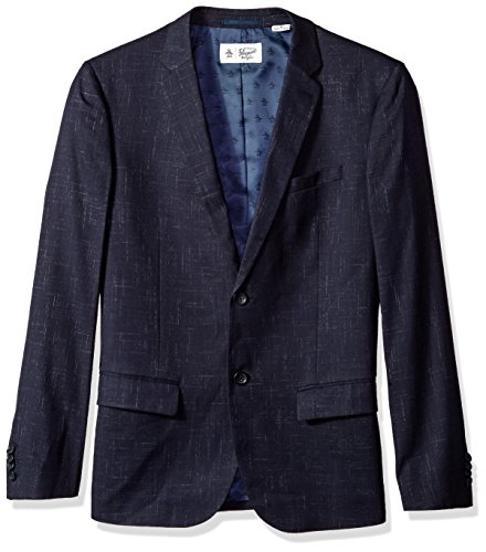 Original Penguin Men's Crosshatch NEP Blazer, Dark Sapphire, Medium