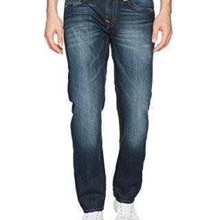 True Religion Men's Slim Straight Jean with Flap Back Pockets, Lost Lagoon, 42