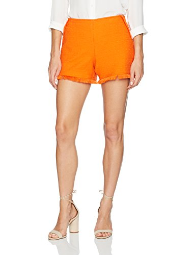 Trina Turk Women's Kleo Stretch Cotton Slub Short, Caliente, 6