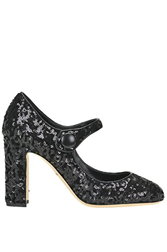 Dolce e Gabbana Women's Black Sequins Pumps
