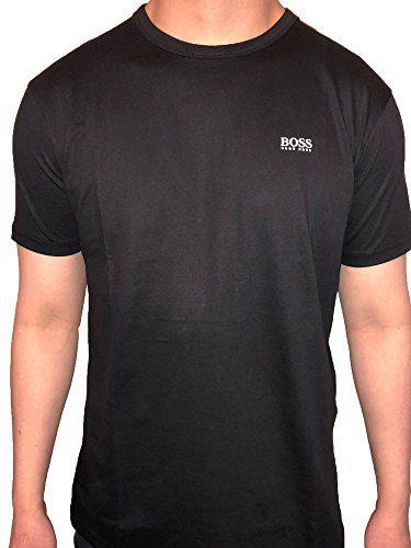 Hugo Boss Green Label Crew Neck Short Sleeve Cotton T-Shirt (Large, Black)