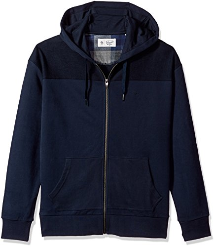 Original Penguin Men's Drop Shoulder Hoodie, Dark Sapphire, Medium