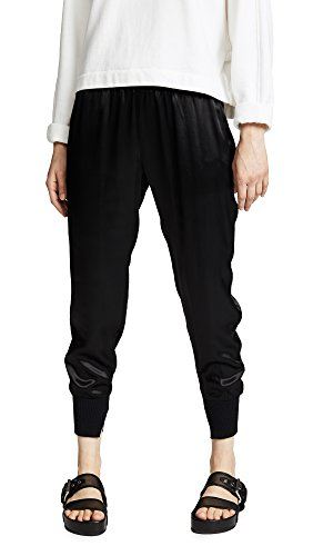 Enza Costa Women's Cuffed Jogger Pants, Black, 2