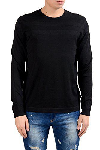 Hugo Boss Tlymouth Men's Black Crewneck Slim Fit Sweater US L IT 52