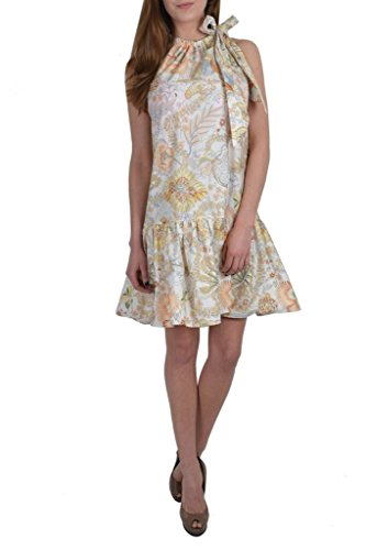 Salvatore Ferragamo Multi-Color Floral Sleeveless Women's Sheath Dress US XL IT 46;