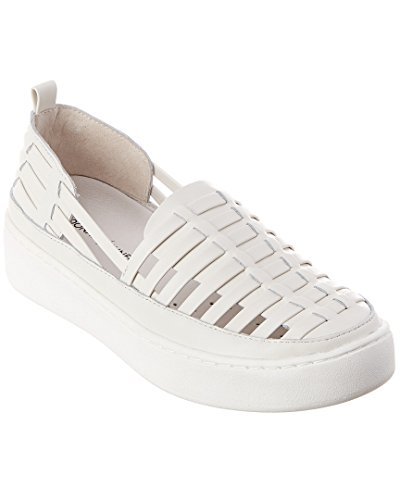 Donald Pliner Cierra Leather Sneaker, 9, White