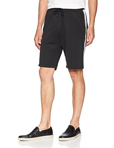 Publish Brand INC. Men's Mathias-Premium Comfort Side Ribbed Shorts, Black, 36