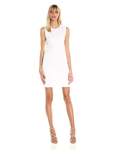 A|X Armani Exchange Women's Crew Neck Color Block Mini Dress, White, 0
