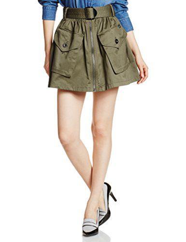 Diesel Women's O-Boden Skirt Olive/Green Skirt