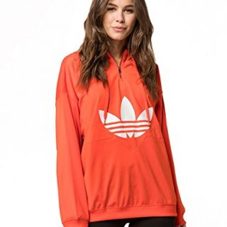 adidas Originals Women's OG CLRDO Hooded Sweatshirt Bold Orange Medium