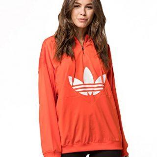 adidas Originals Women's OG CLRDO Hooded Sweatshirt Bold Orange Medium