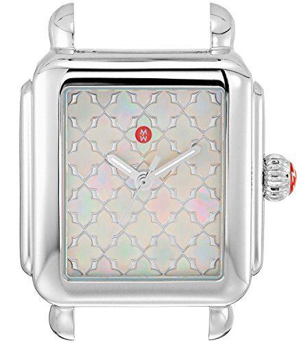 Michele Women's Swiss Quartz Stainless Steel Casual Watch, Color: Black