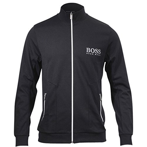Hugo Boss Men's Black Stretch Jersey Long Sleeve Tracksuit Jacket Sz: M