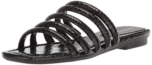 Donald J Pliner Women's Kip Slide Sandal, Black, 7.5 Medium US