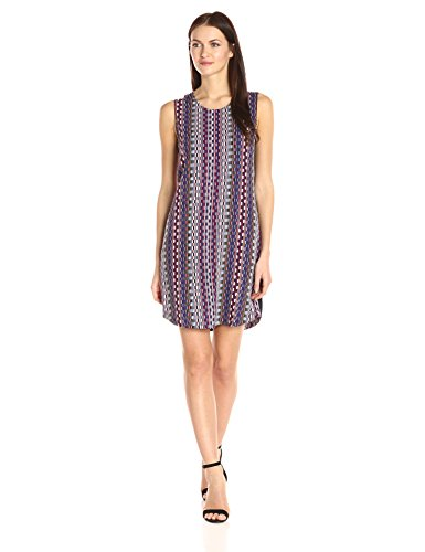 A|X Armani Exchange Women's Scoop Neck Sleeveless Printed Mini Dress, Multi, 4