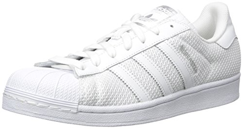 adidas Originals Men's Superstar Fashion Sneaker, White/White/White, 11 M US