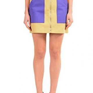 Versace Versus Multi-Color Full Zip Women's Mini Skirt US XS IT 38