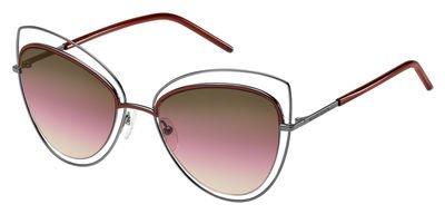 Marc Jacobs 8/S Sunglasses Dark Ruthenium / Brown Mirror Orange Polarized