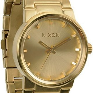 NIXON Quartz Steel and 18K and Gold Plated Casual Watch
